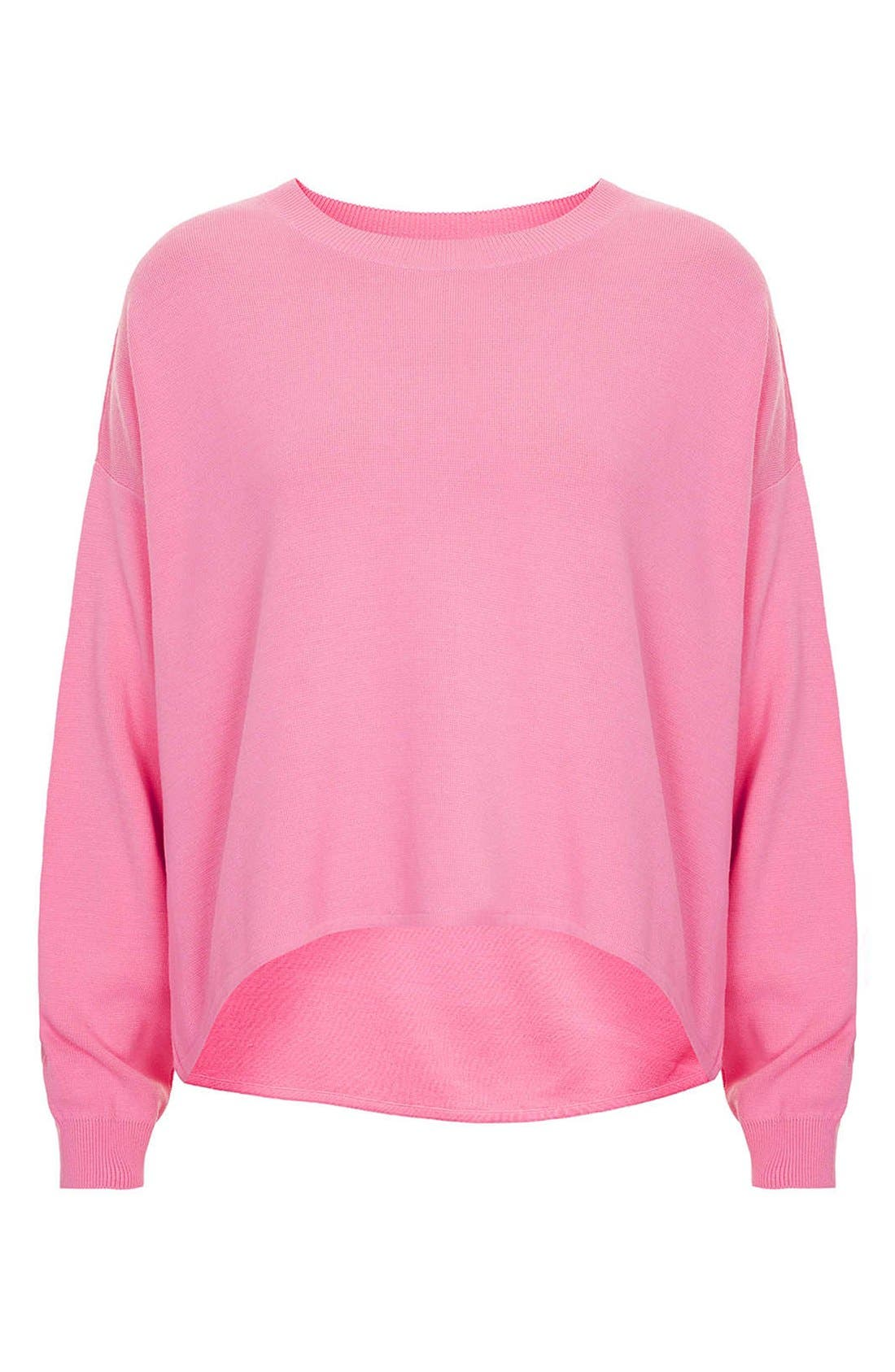 Alternate Image 3  - Topshop High/Low Knit Sweater