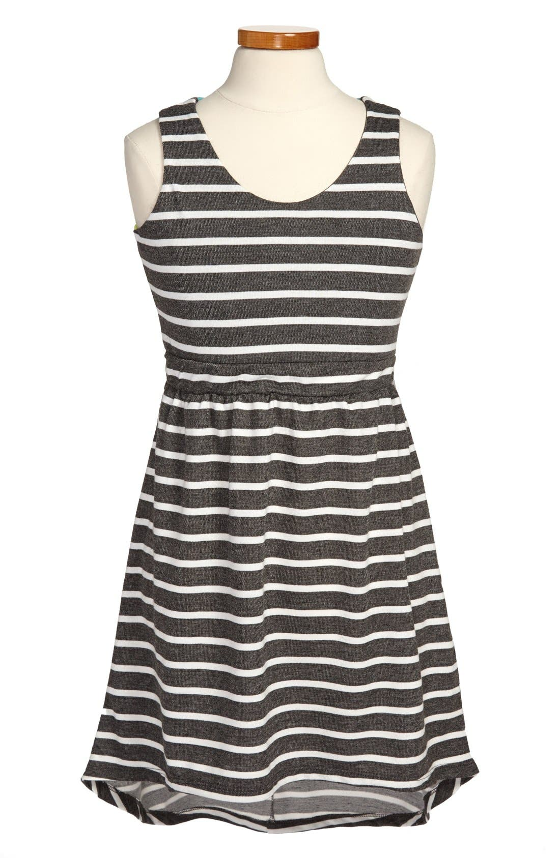 Main Image - W Girl Sleeveless High/Low Dress (Big Girls)