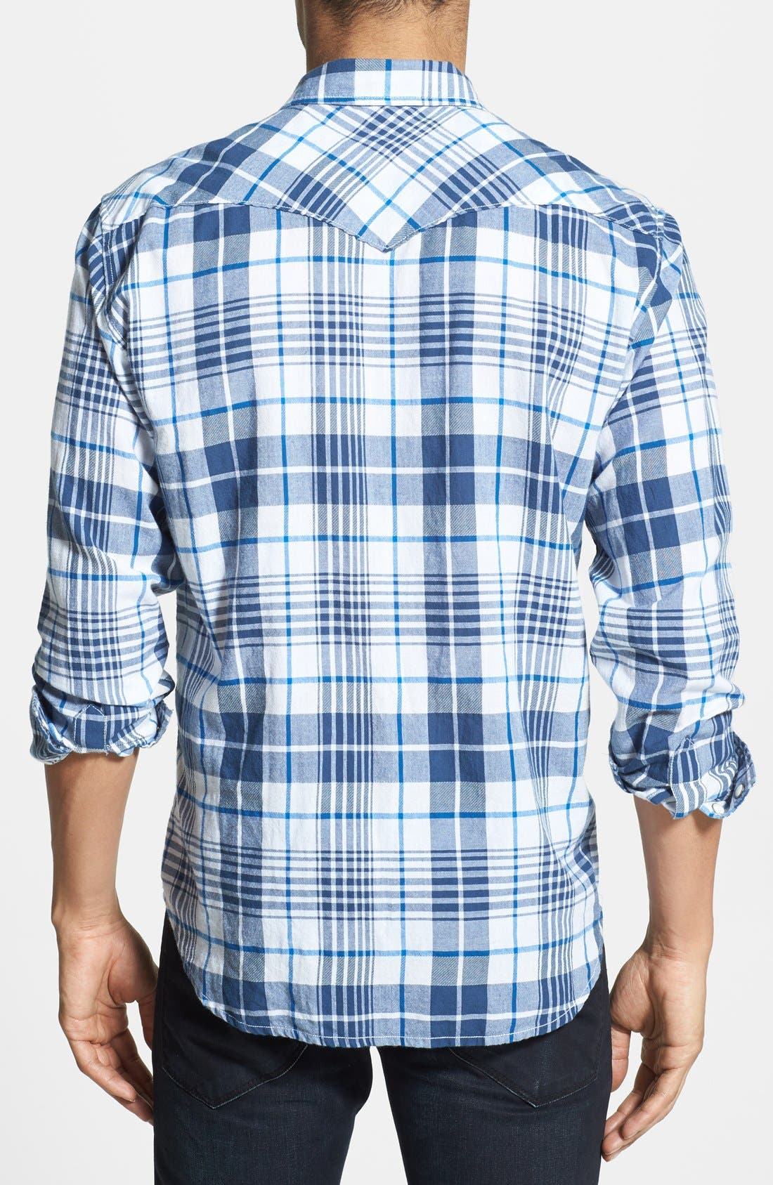 Alternate Image 2  - Lucky Brand 'Hammond' Plaid Poplin Western Shirt