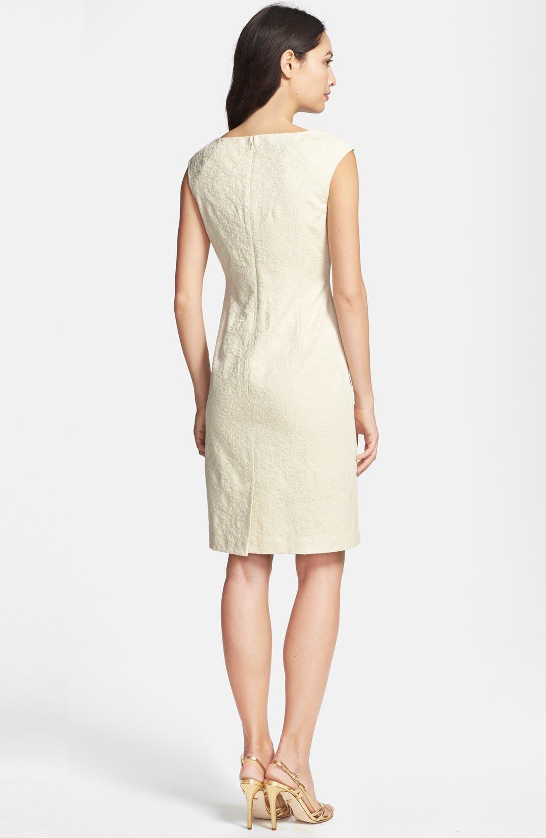 Alternate Image 2  - Adrianna Papell Embellished Jacquard Sheath Dress
