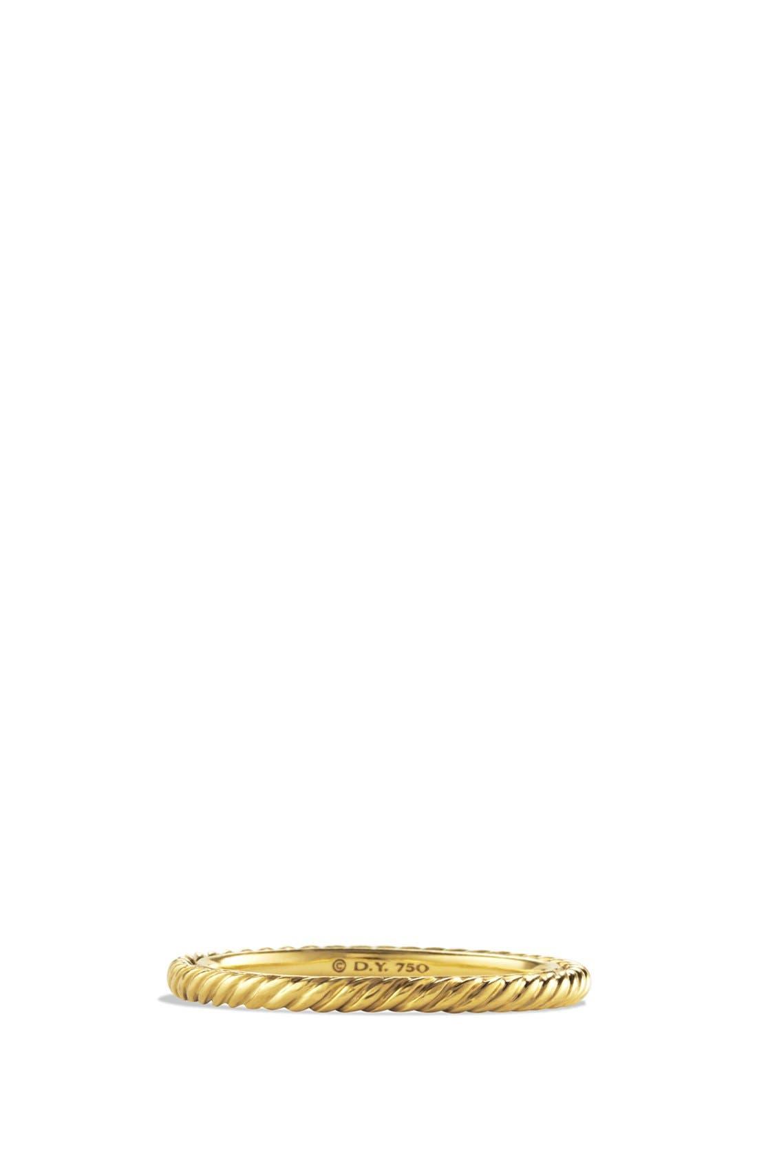 David Yurman 'Cable' Band Ring in Gold