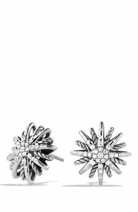 David Yurman Starburst Small Earrings With Diamonds