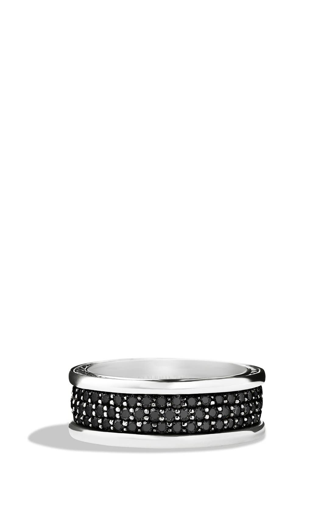 'Streamline' Band Ring with Black Diamonds,                             Main thumbnail 1, color,                             Black Diamond
