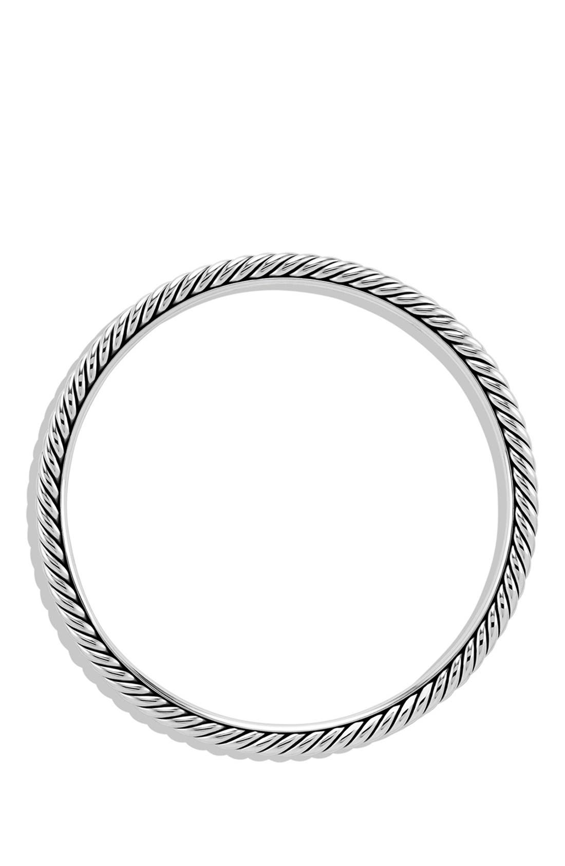 Cable Classics Bangle, 4mm,                             Alternate thumbnail 2, color,                             Silver
