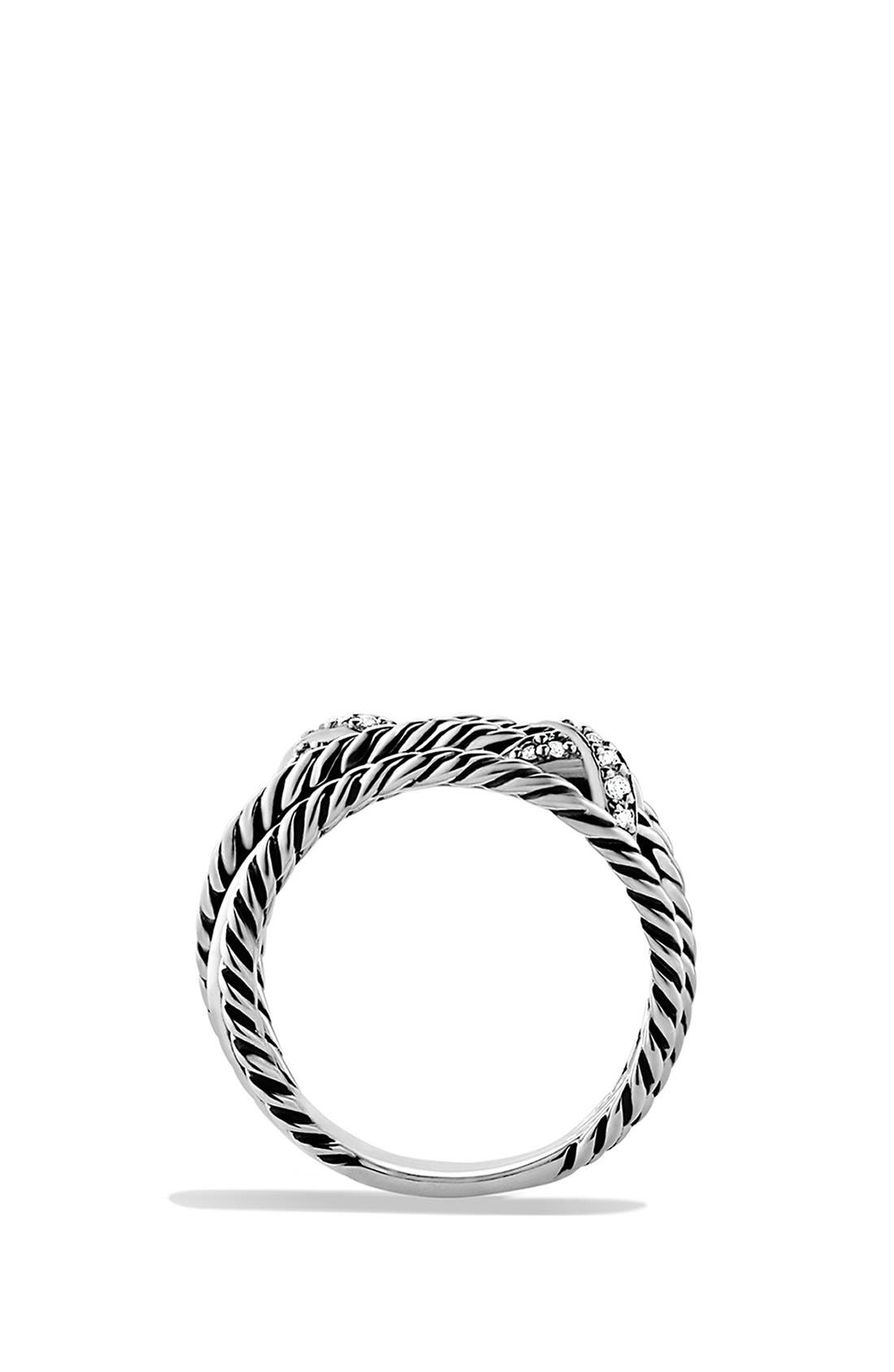 Alternate Image 4  - David Yurman Double 'X Crossover' Ring with Diamonds
