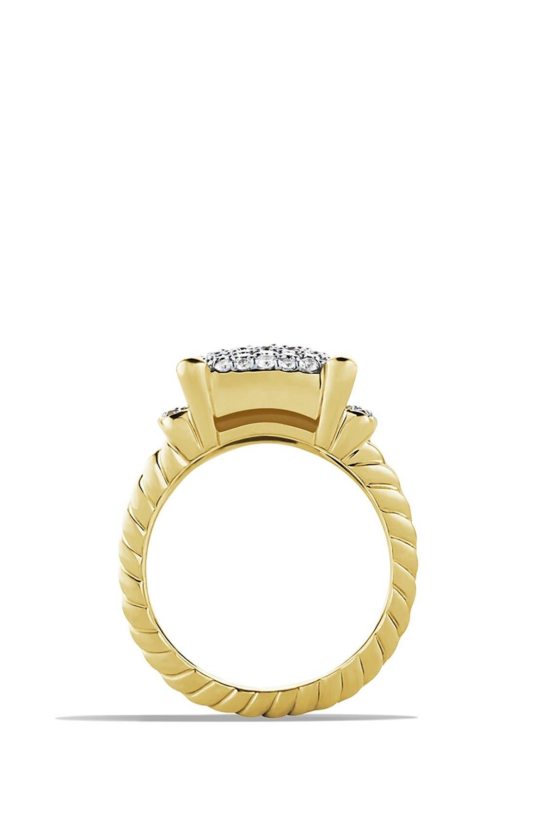 Alternate Image 4  - David Yurman 'Wheaton' Ring with Diamonds in Gold