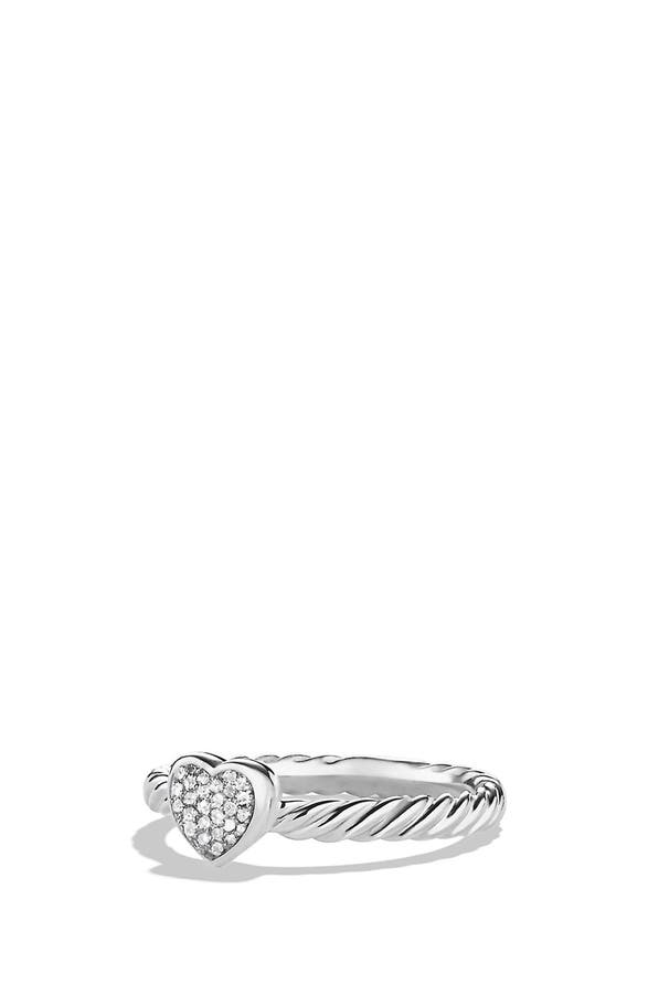 David Yurman \'Cable Collectibles\' Heart Ring with Diamonds | Nordstrom
