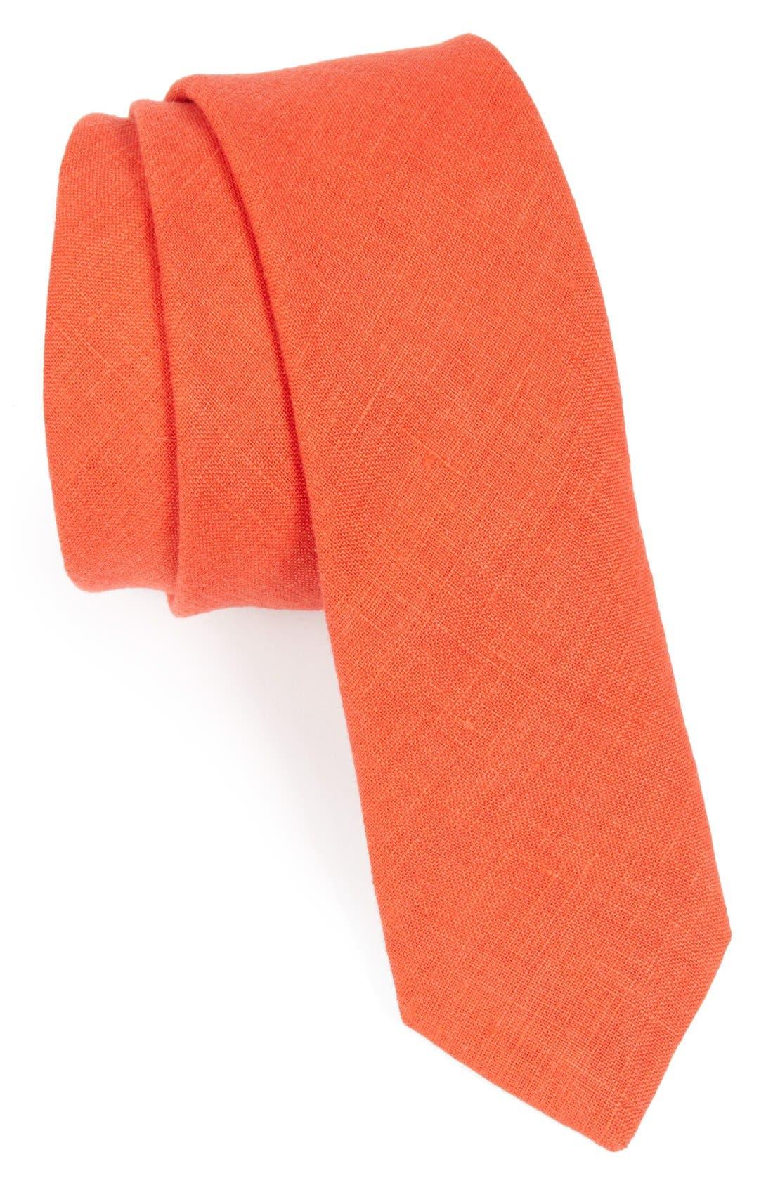 Main Image - Burberry Prorsum Woven Linen Tie
