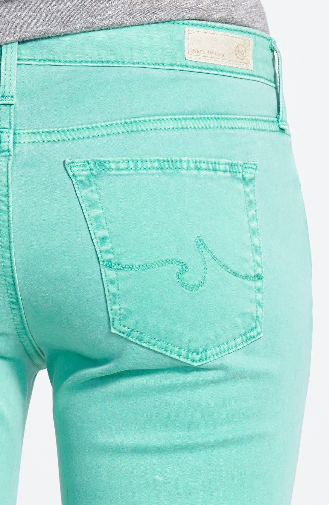 Alternate Image 3  - AG 'Stilt' Skinny Ankle Jeans (Pigment Putt Putt Green)