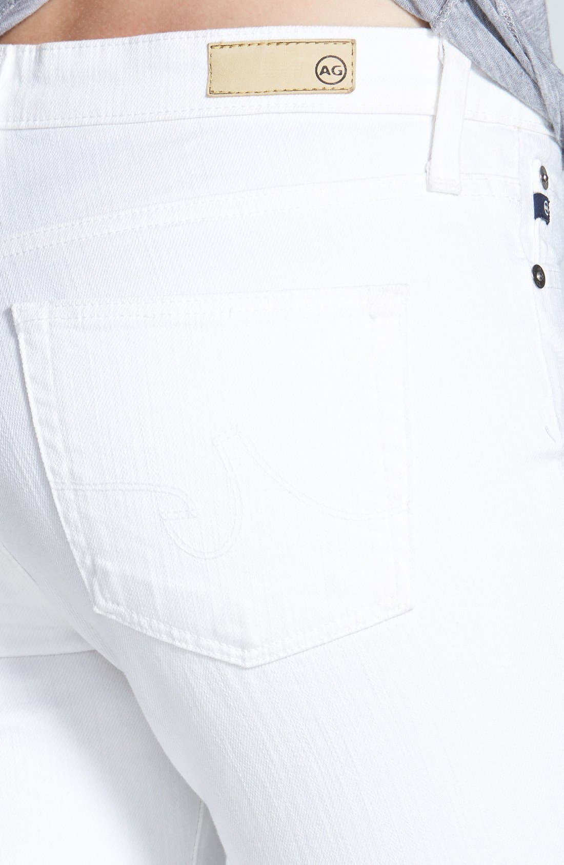 Alternate Image 3  - AG 'The Prima' Mid Rise Cigarette Jeans (White)