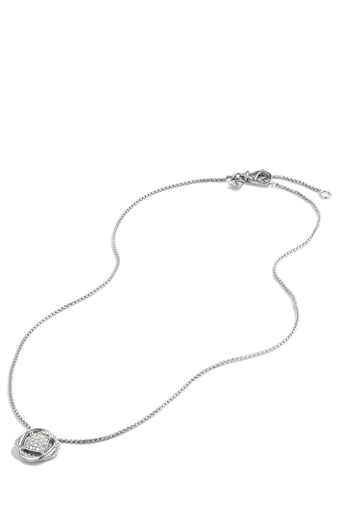 Alternate Image 2  - David Yurman 'Infinity' Pendant with Diamonds on Chain