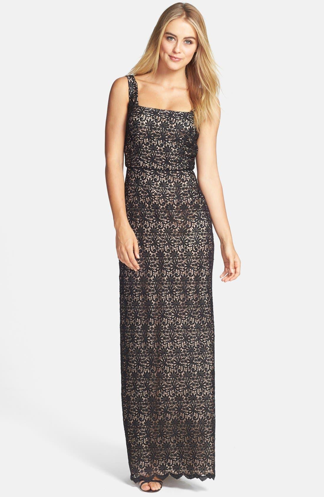 Alternate Image 1 Selected - Jill Jill Stuart Venise Lace Column Gown