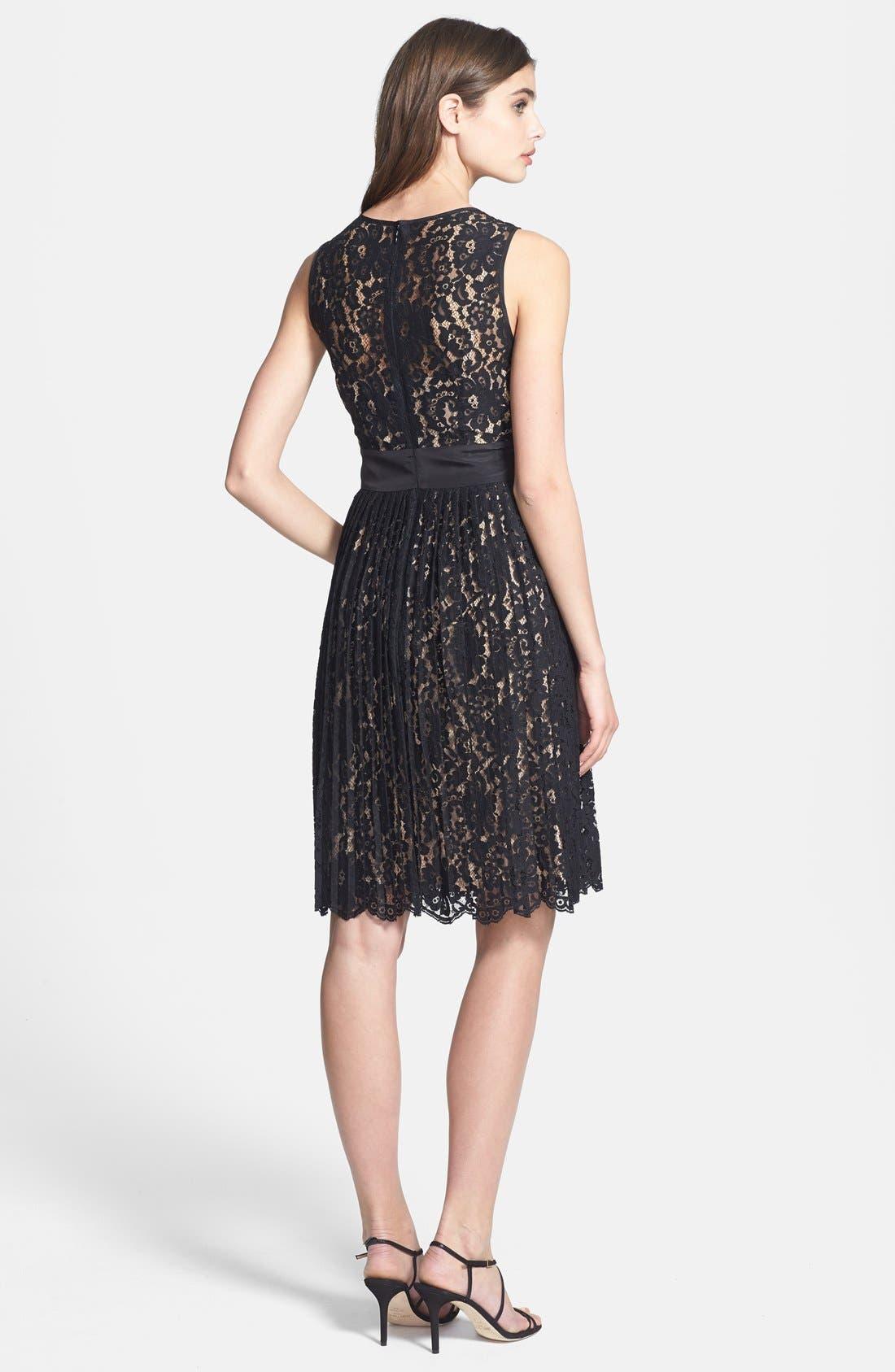 Alternate Image 3  - Eliza J Sleeveless Lace Fit & Flare Dress