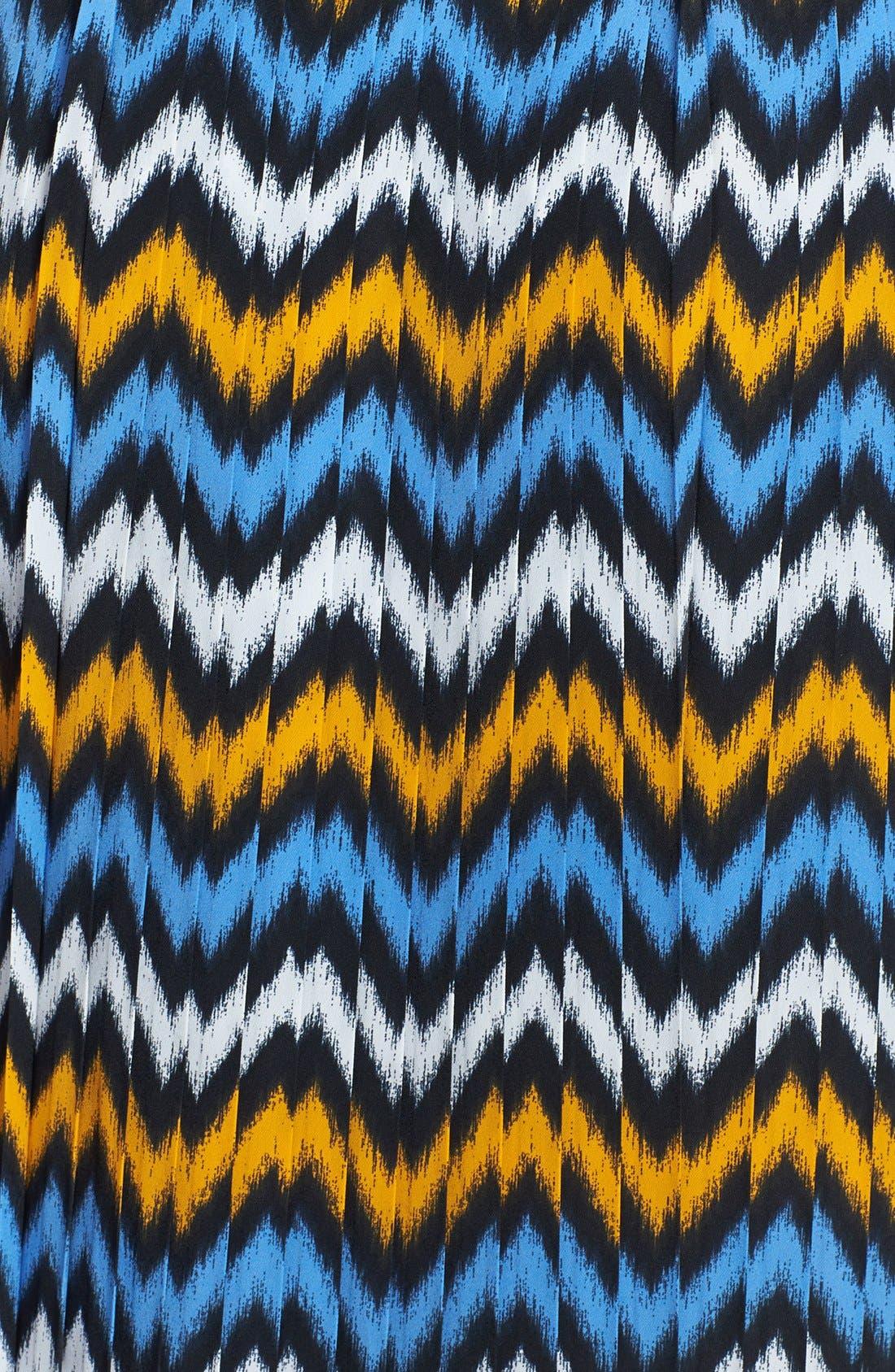 Alternate Image 3  - MICHAEL Michael Kors Ikat Print Pleat Maxi Skirt (Regular & Petite)