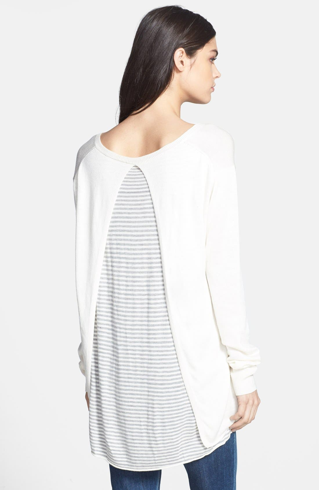 Alternate Image 2  - Ella Moss 'Sia' Layered V-Neck Sweater