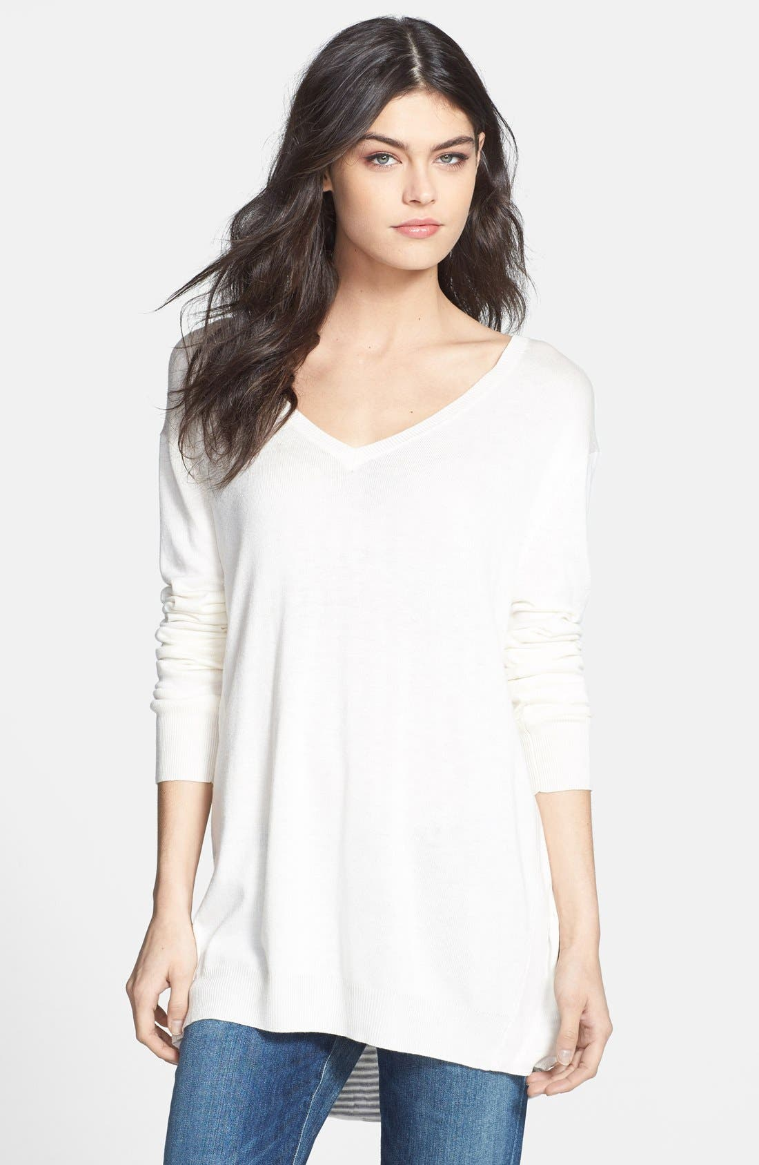 Main Image - Ella Moss 'Sia' Layered V-Neck Sweater