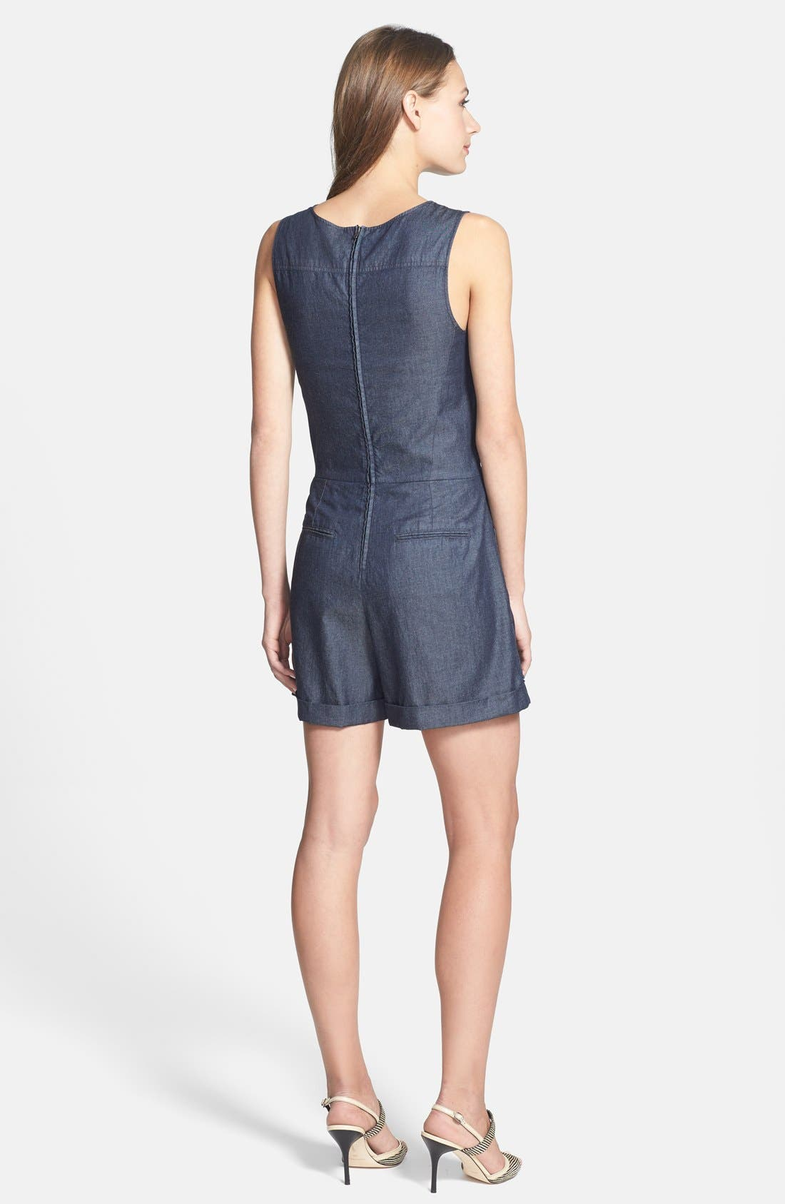 Alternate Image 2  - Theory 'Hadrine D.' Denim Romper