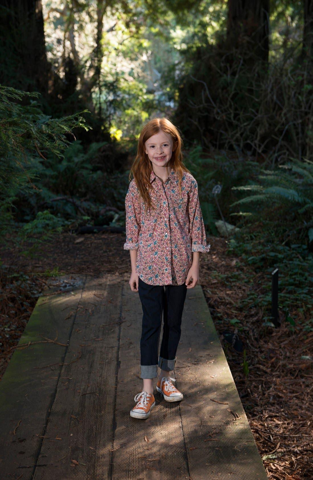 Alternate Image 2  - Peek Shirt & Jeans (Toddler Girls, Little Girls & Big Girls)