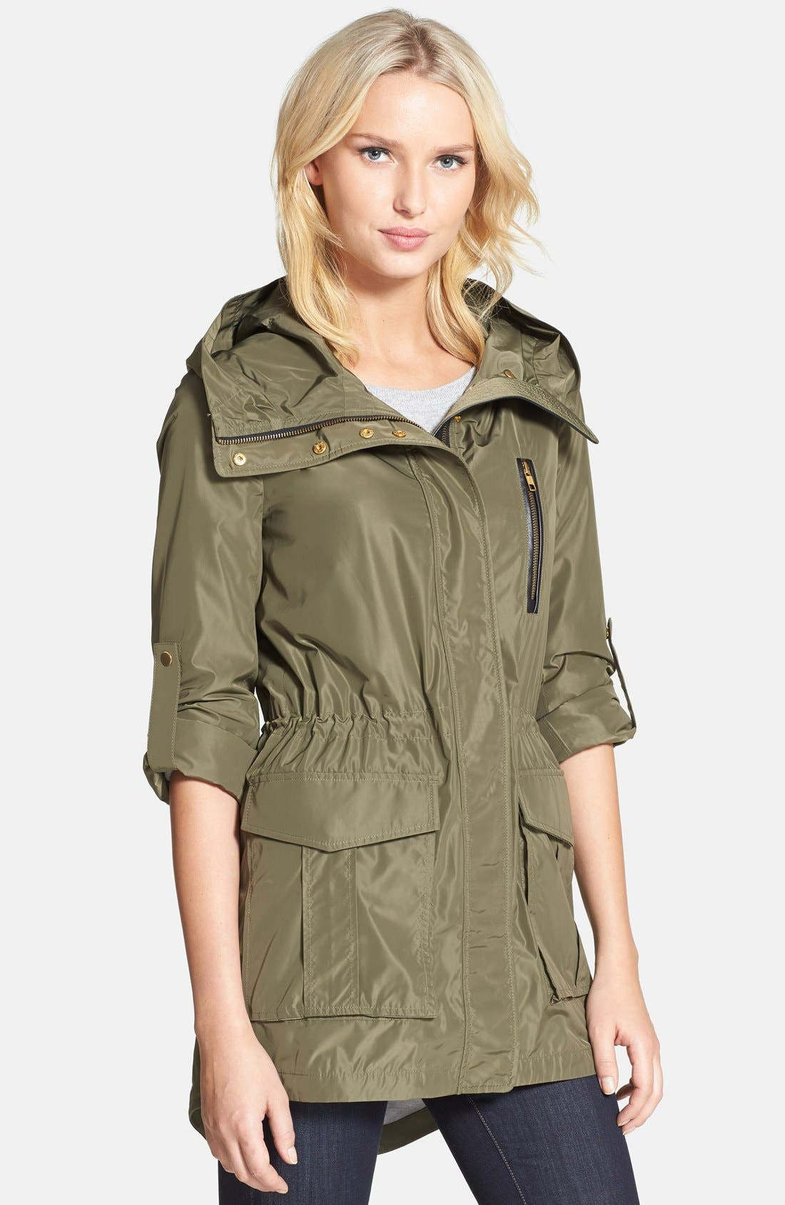 Alternate Image 1 Selected - Mackage Convertible Sleeve Packable Hooded Anorak