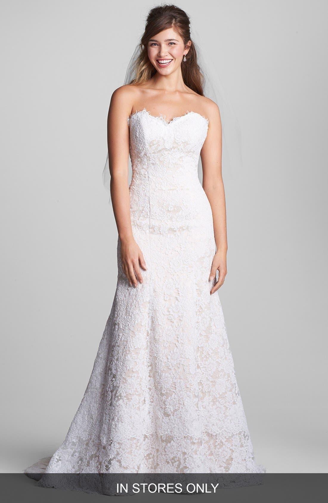 Treasure Flared Lace Dress,                         Main,                         color, Ivory/ Blush