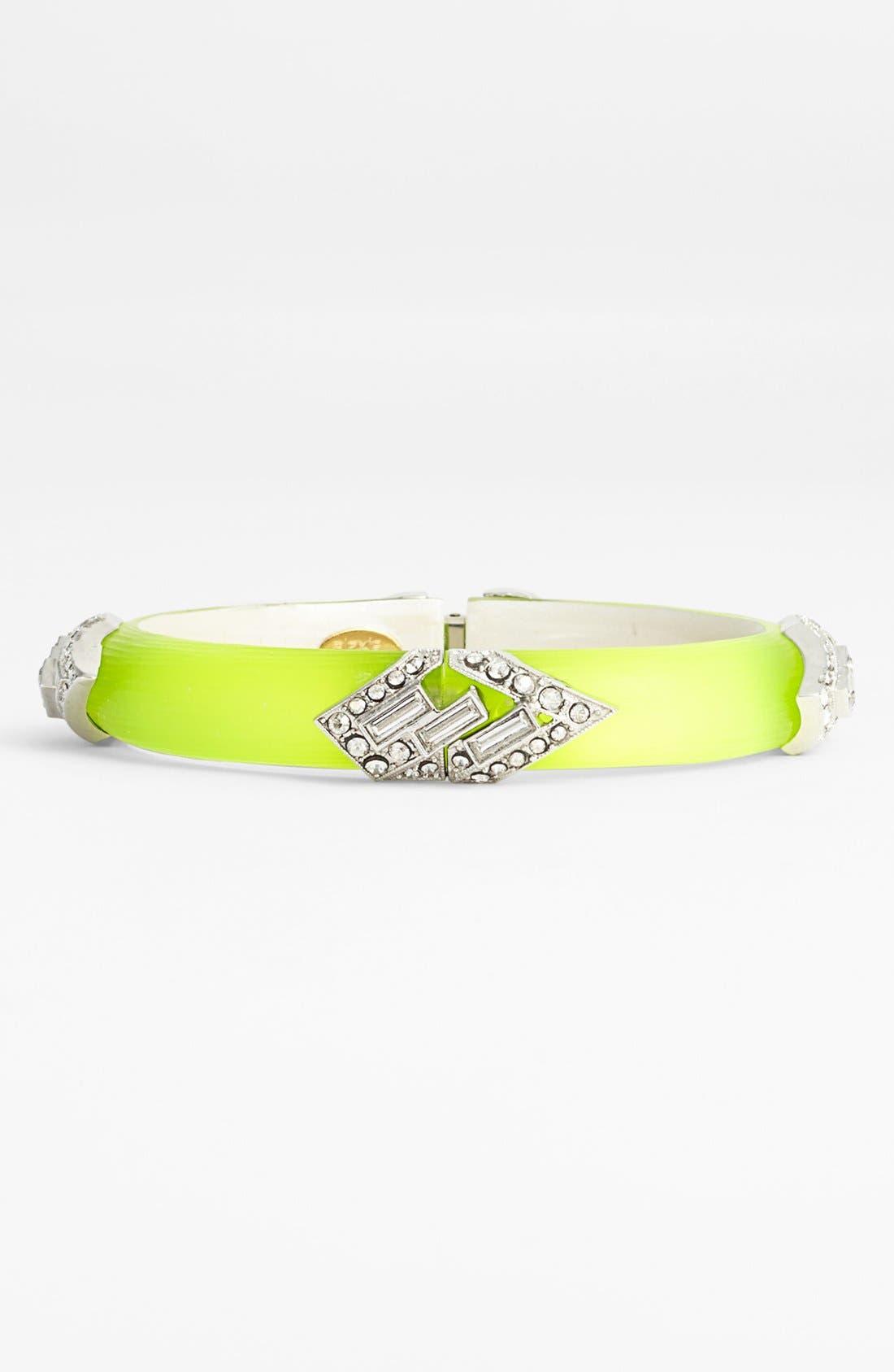 'Lucite<sup>®</sup> - Neon Deco' Bracelet,                         Main,                         color, Neon Yellow