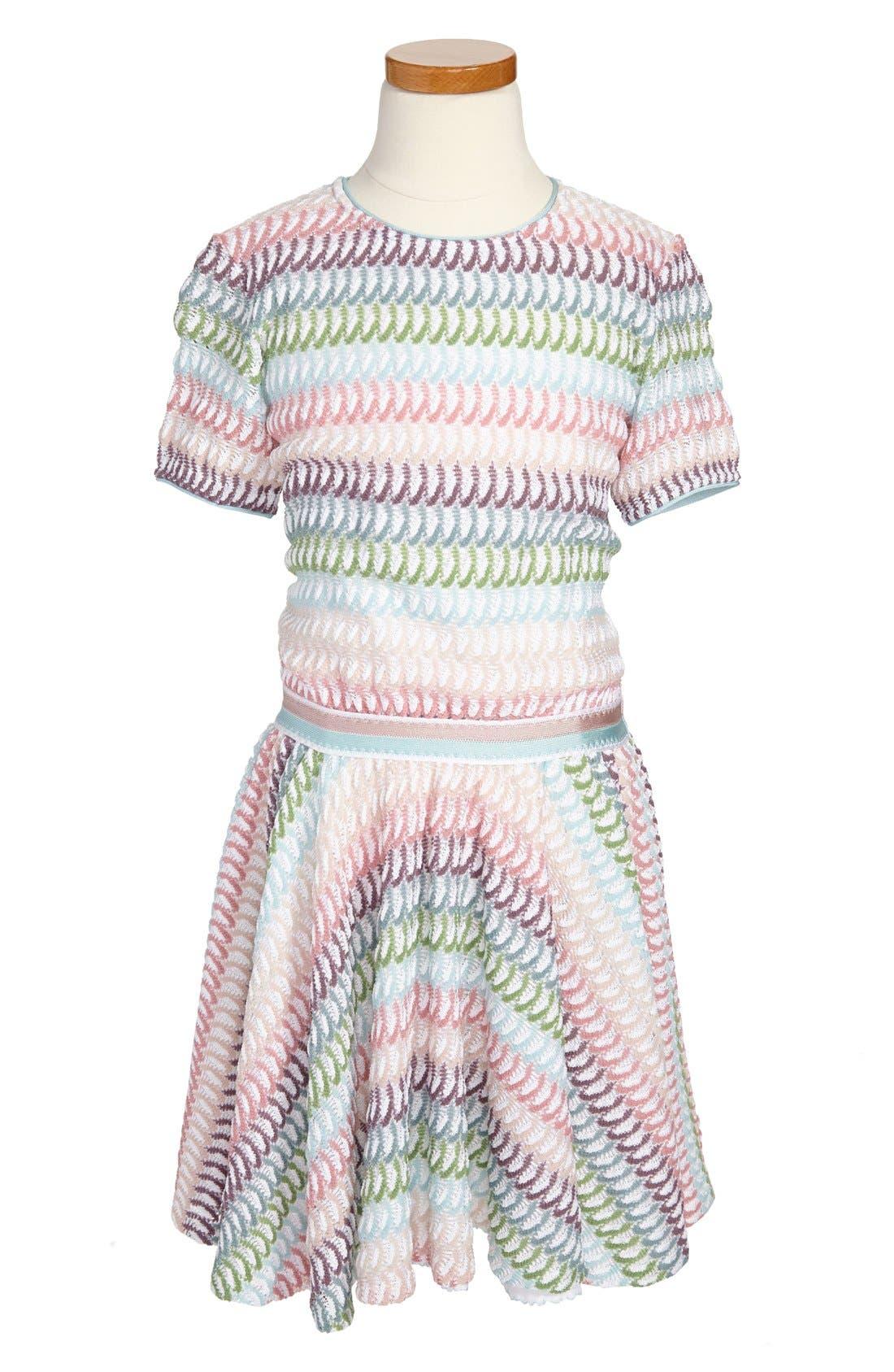 Main Image - Missoni Stripe Petal Dress (Little Girls & Big Girls)