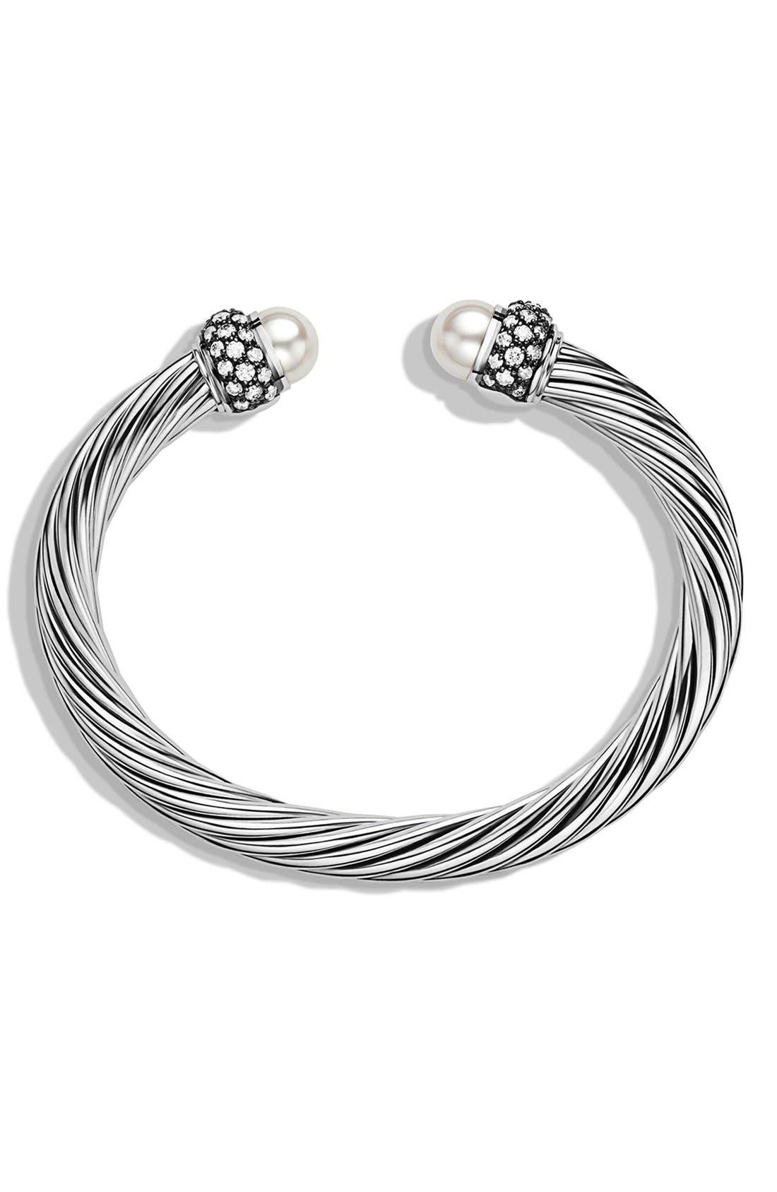 Alternate Image 2  - David Yurman 'Cable Classics' Bracelet with Pearls and Diamonds