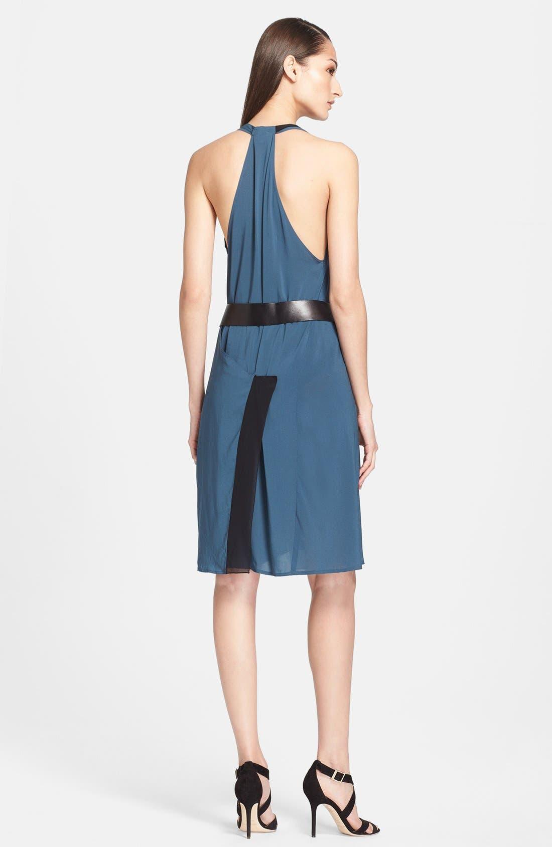 Alternate Image 2  - Donna Karan New York Two-Tone Crepe Dress