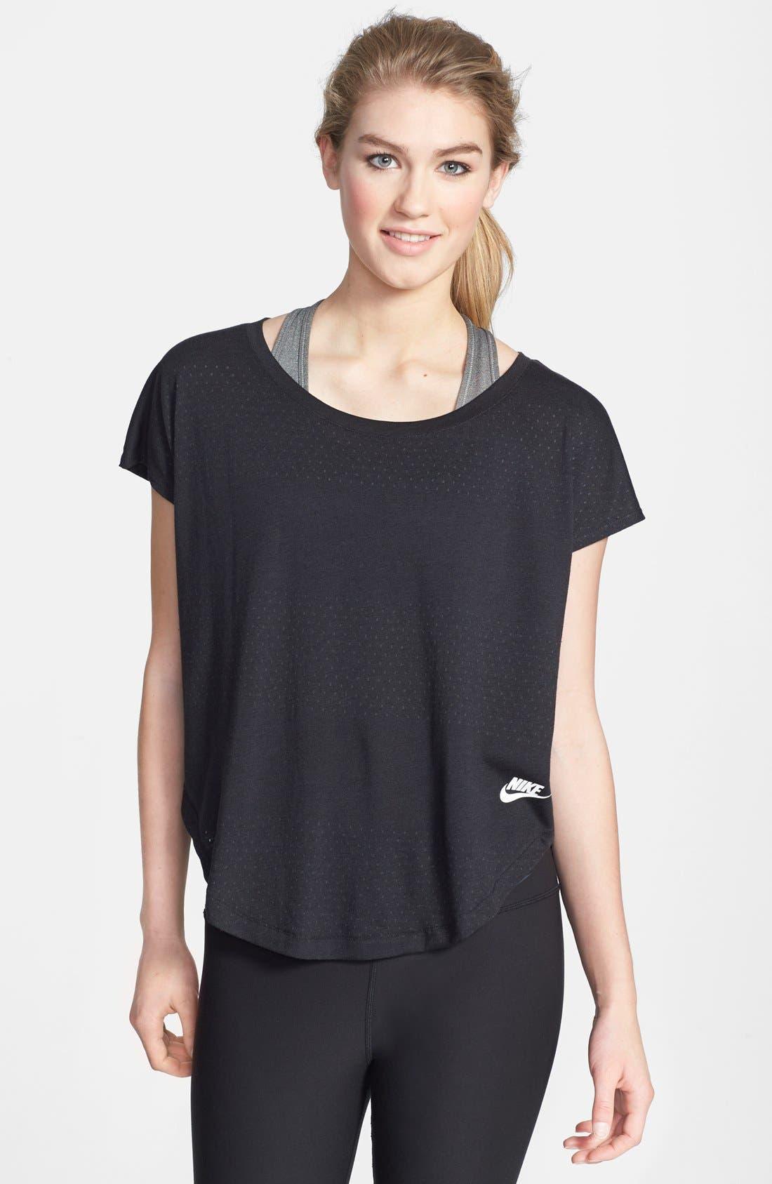Main Image - Nike 'Signal' Burnout Stripe Tee