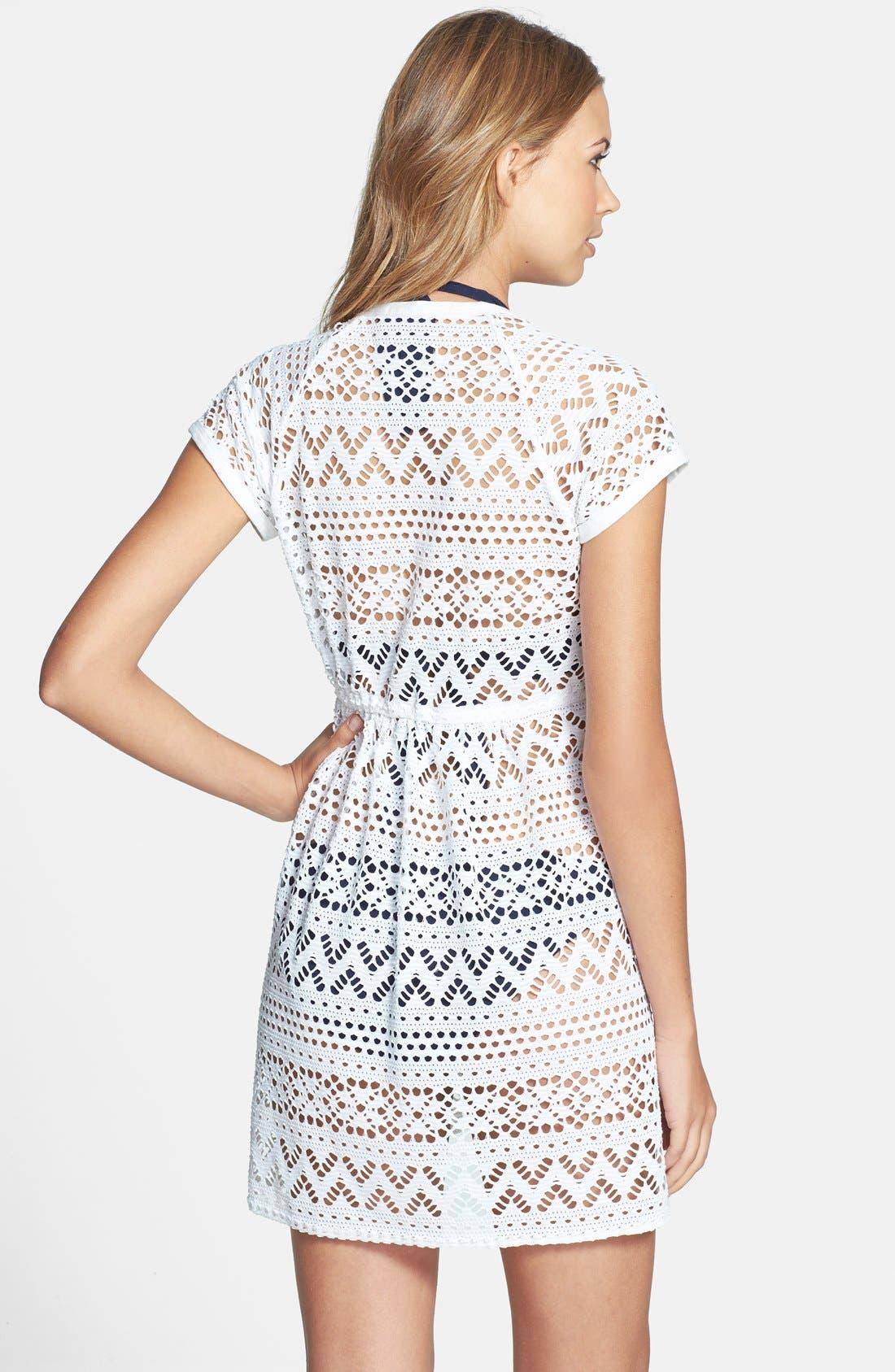 Alternate Image 2  - Robin Piccone 'Penelope' Crochet Wrap Dress