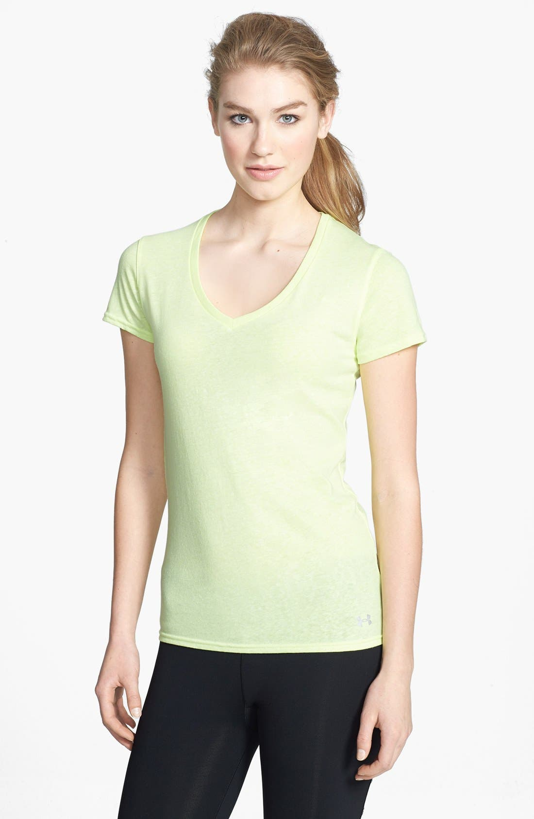 Alternate Image 1 Selected - Under Armour 'Charged - Undeniable' HeatGear® Tee