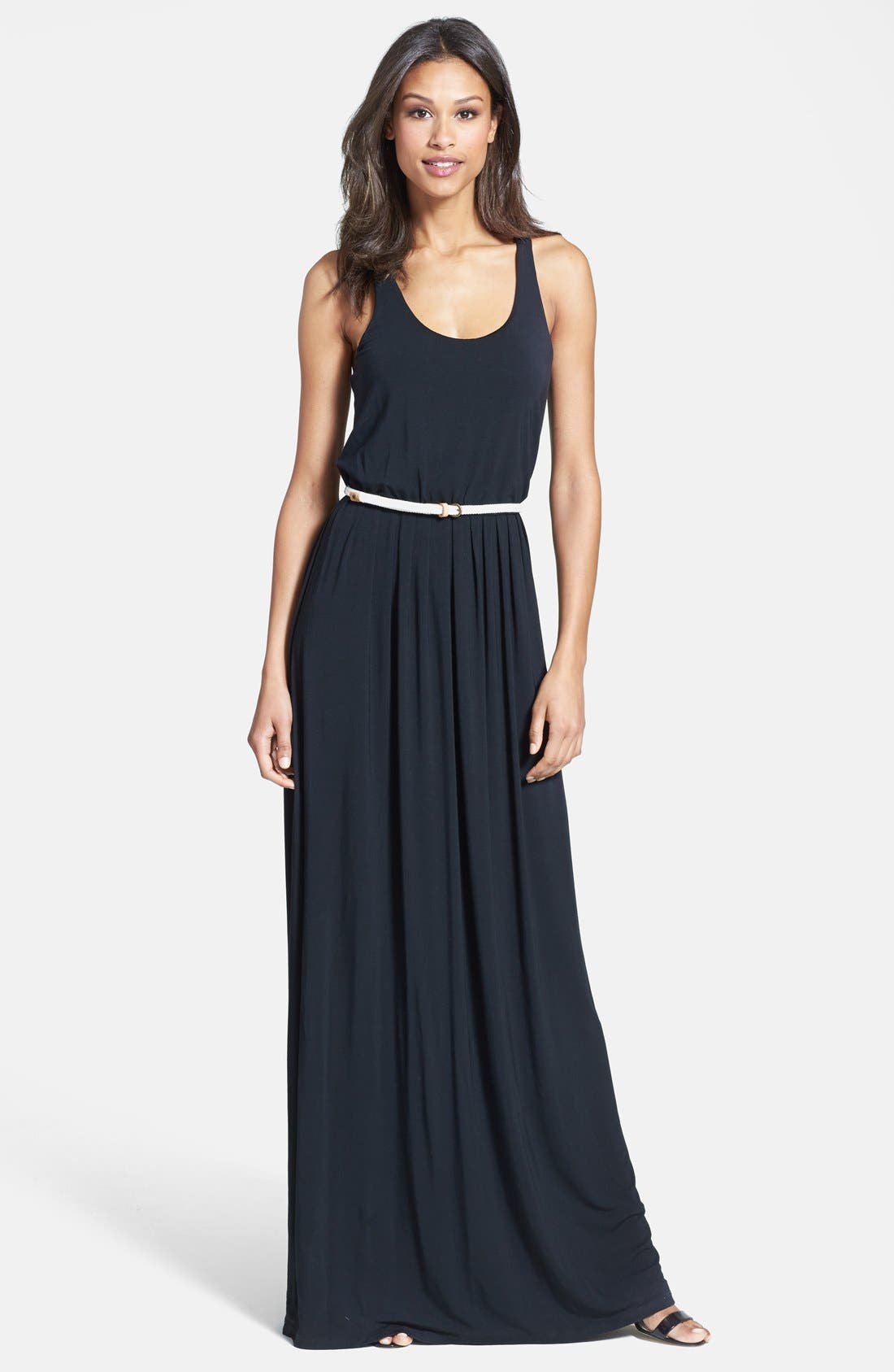Alternate Image 1 Selected - Tart Racerback Belted Maxi Dress