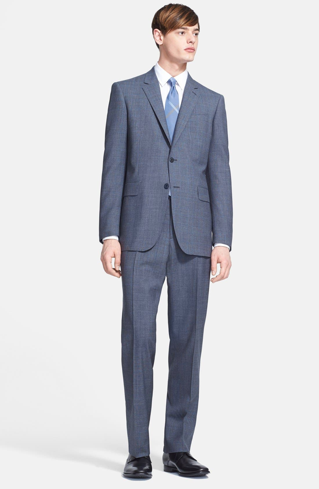 Main Image - Burberry London 'Canbury' Glen Plaid Virgin Wool Suit