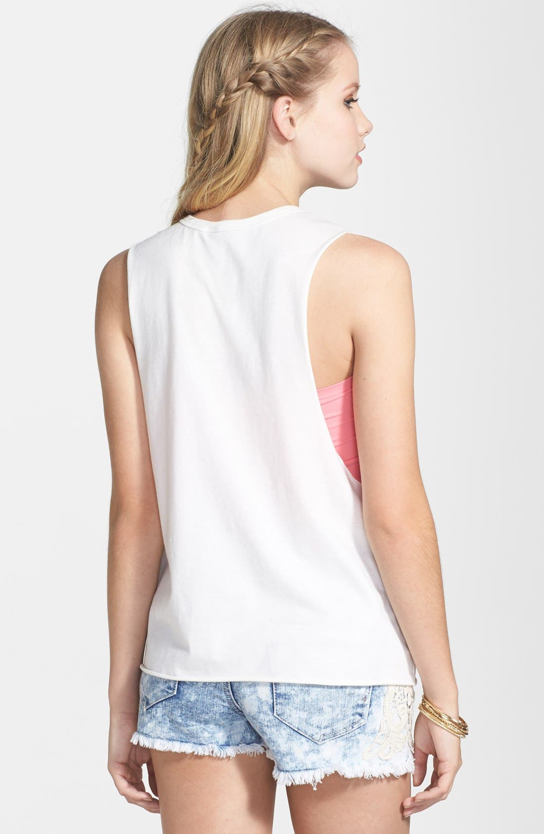 Alternate Image 2  - Rip Curl 'Brightside' Graphic Muscle Tank (Juniors)