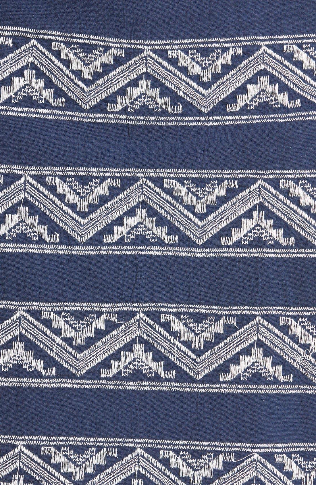 Alternate Image 3  - Hinge® Embroidered A-Line Skirt