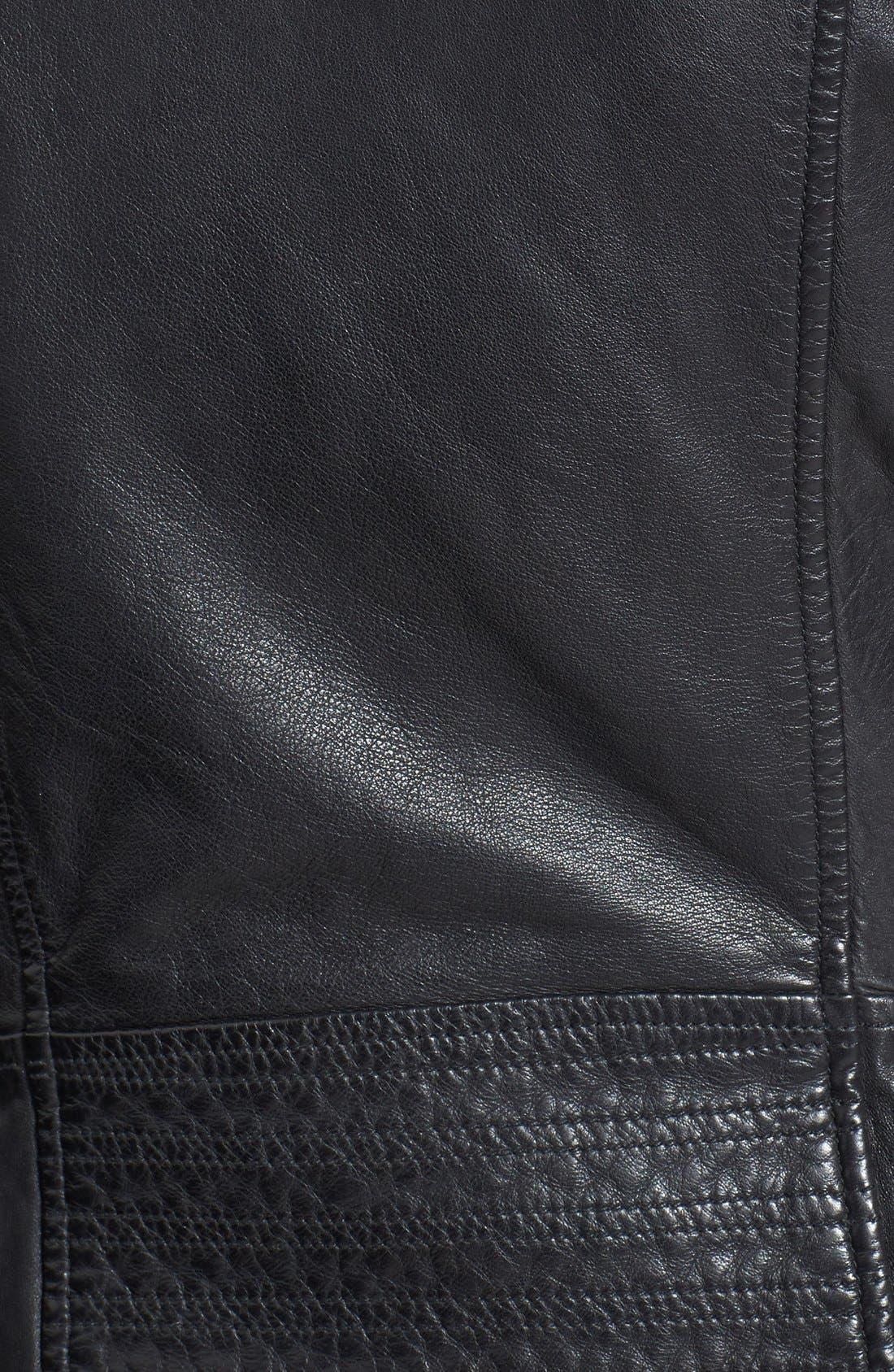 Alternate Image 3  - Bod & Christensen Zip-Off Sleeve Leather Biker Jacket