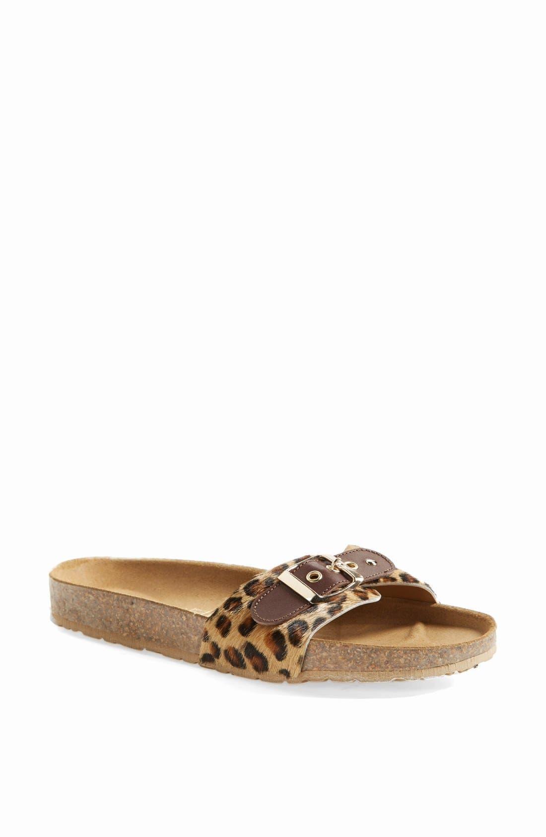 Alternate Image 1 Selected - Seychelles 'So Far Away' Leopard Print Calf Hair Sandal