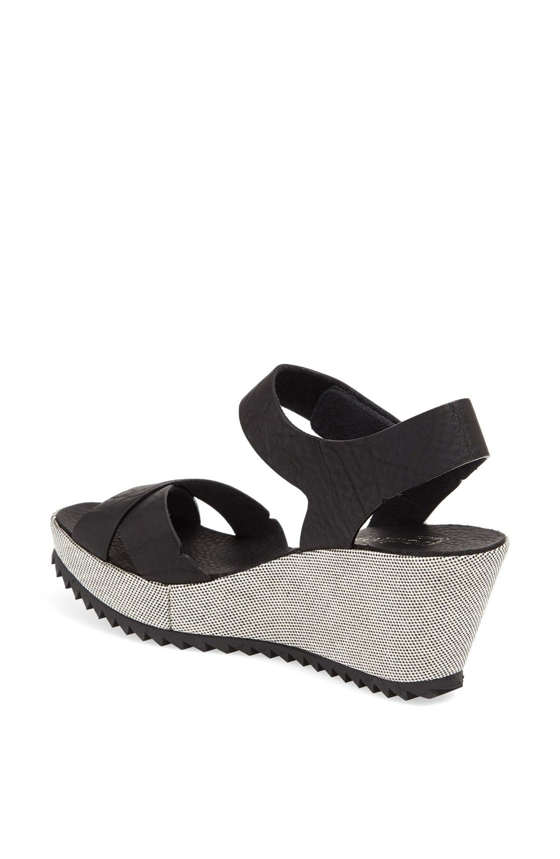 Alternate Image 2  - Pedro Garcia 'Freida' Crisscross Wedge Sandal