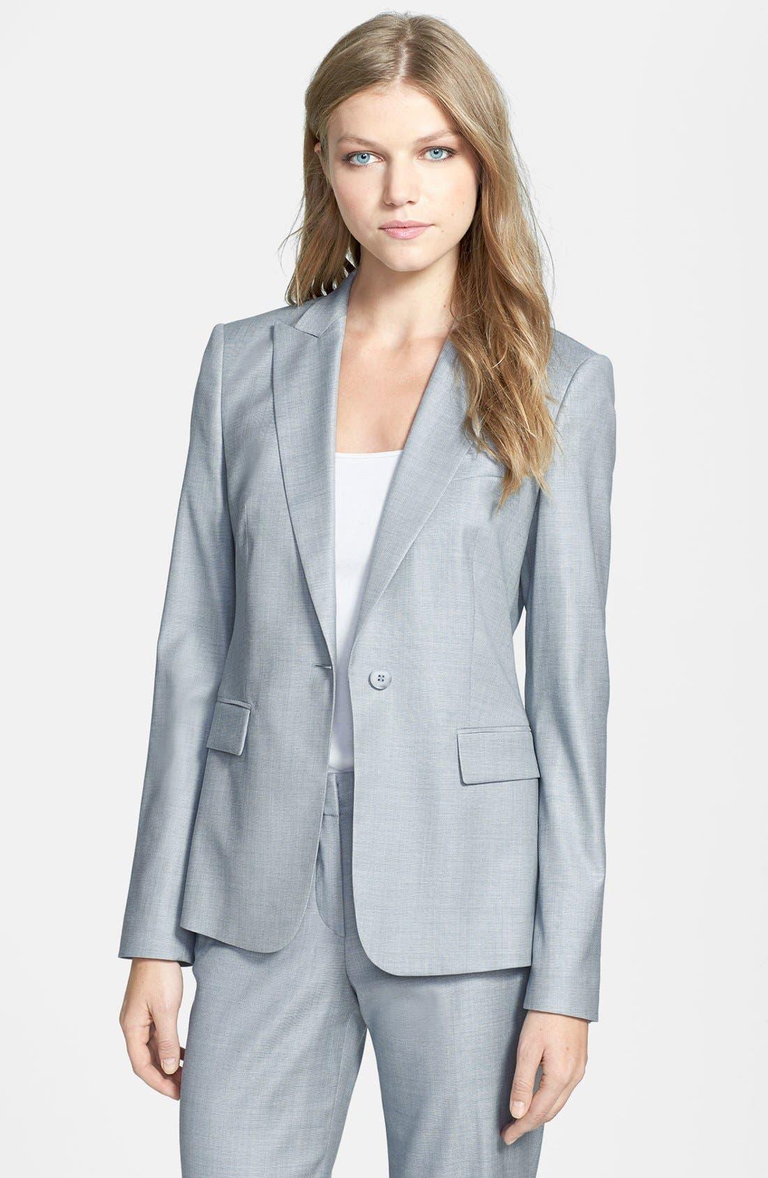 Alternate Image 1 Selected - BOSS HUGO BOSS 'Juicy 6' Stretch Wool Jacket