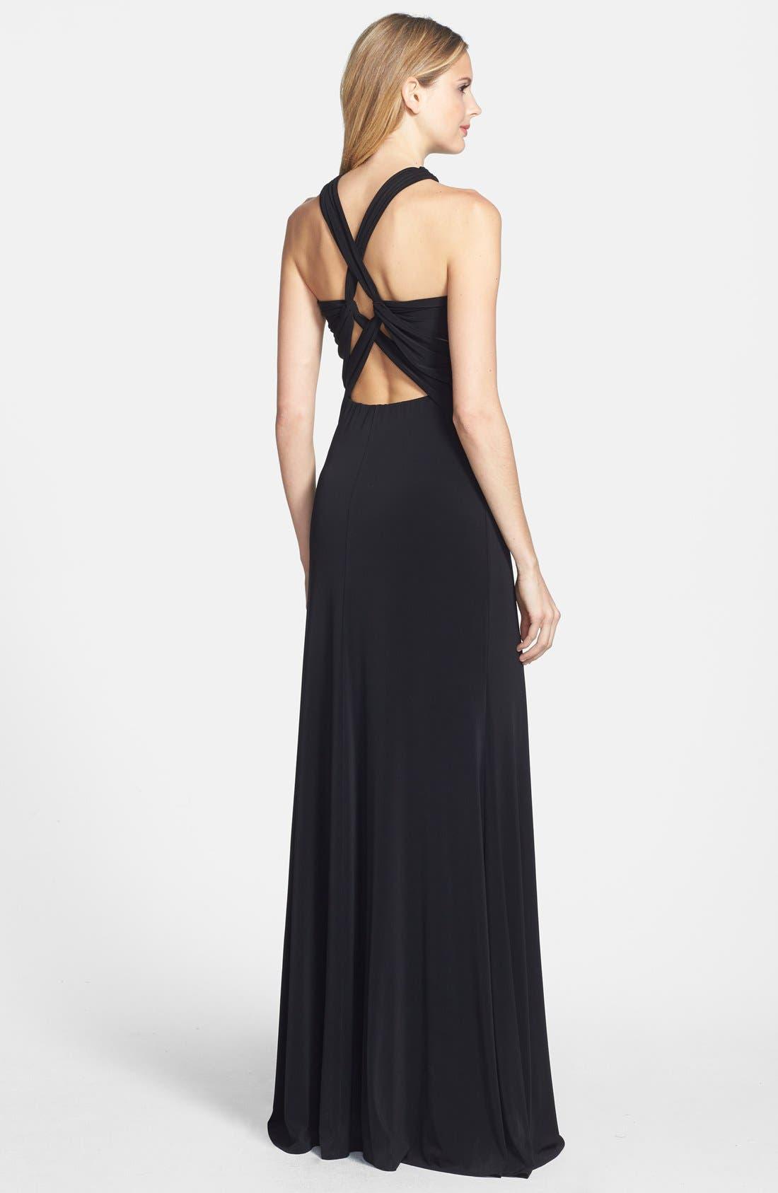 Alternate Image 2  - Vera Wang Open Back Long Jersey Dress