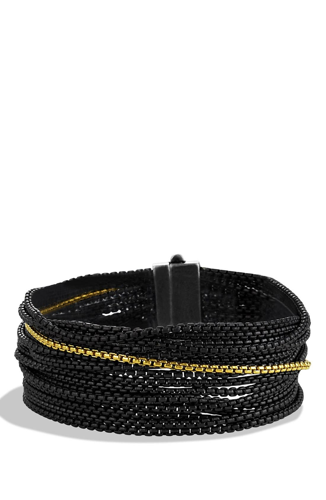 Alternate Image 1 Selected - David Yurman Sixteen-Row Chain Bracelet with Gold