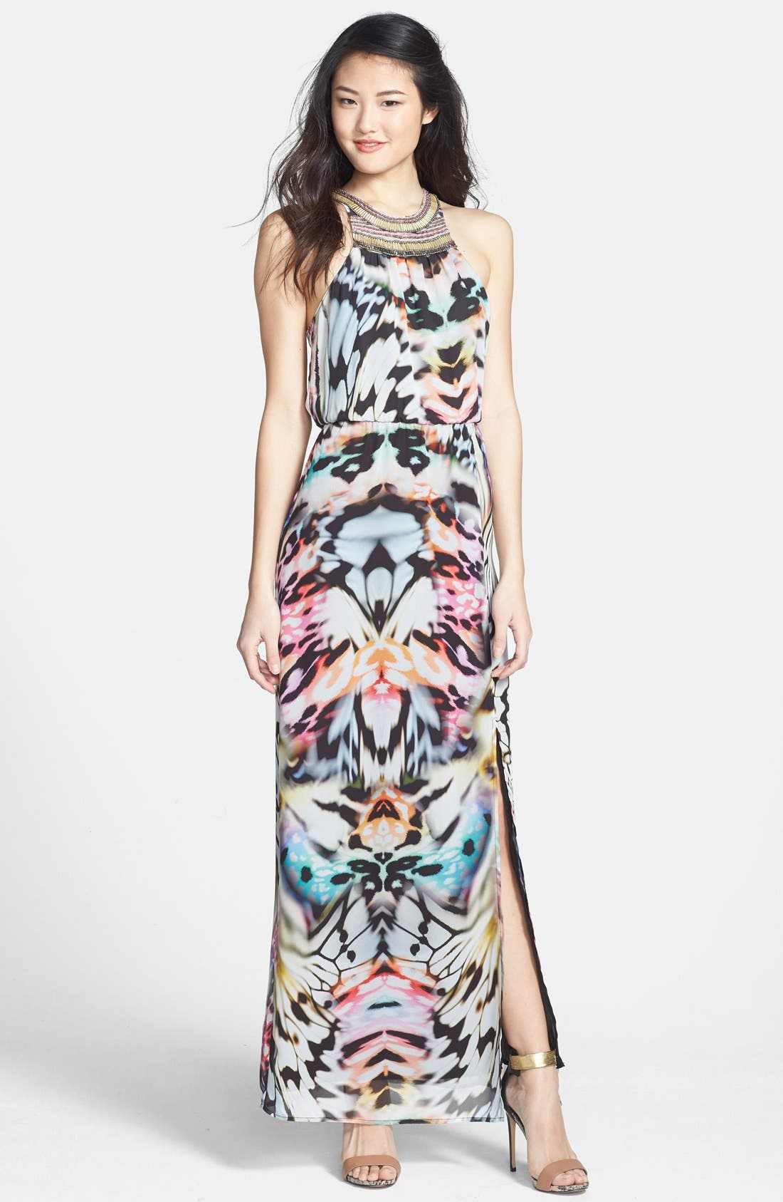 Main Image - Charlie Jade 'Ava' Embellished Georgette Maxi Dress