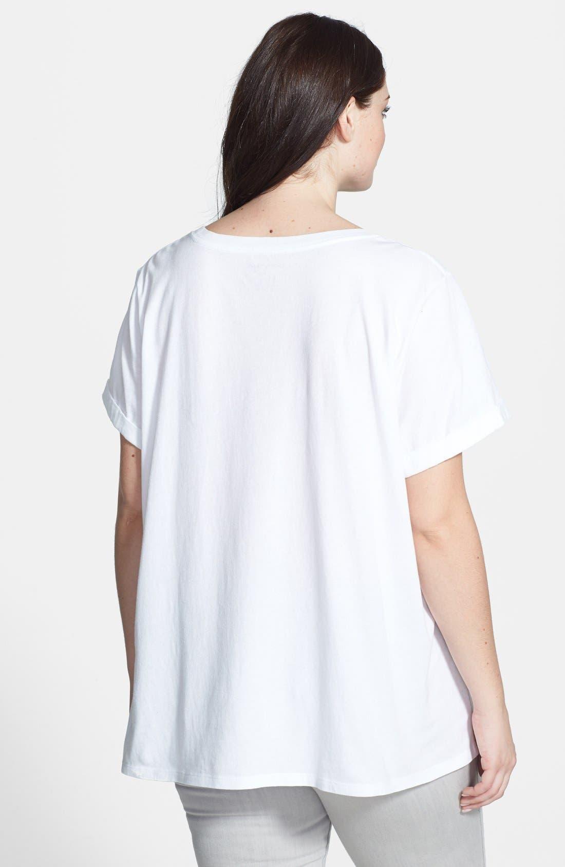 Alternate Image 2  - DKNY 'Billboard Logo' Tee (Plus Size)