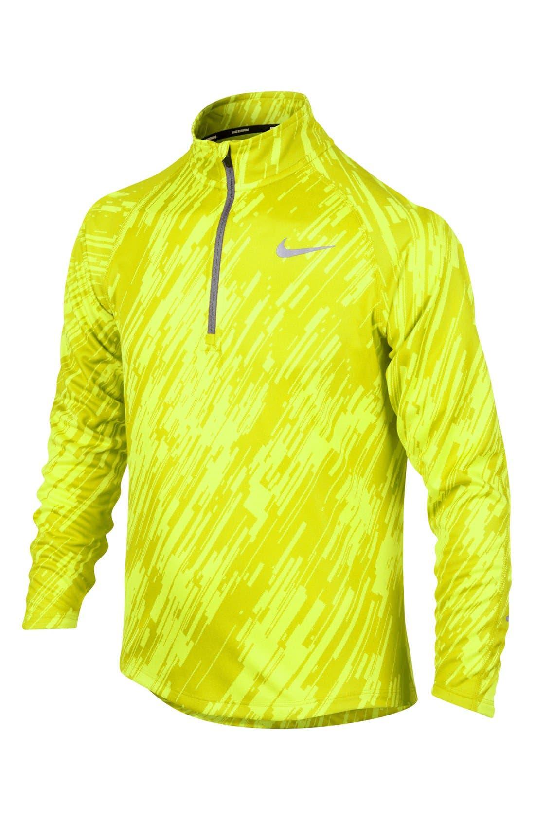 Alternate Image 1 Selected - Nike 'Element' Jacquard Half Zip Running Top (Big Boys)