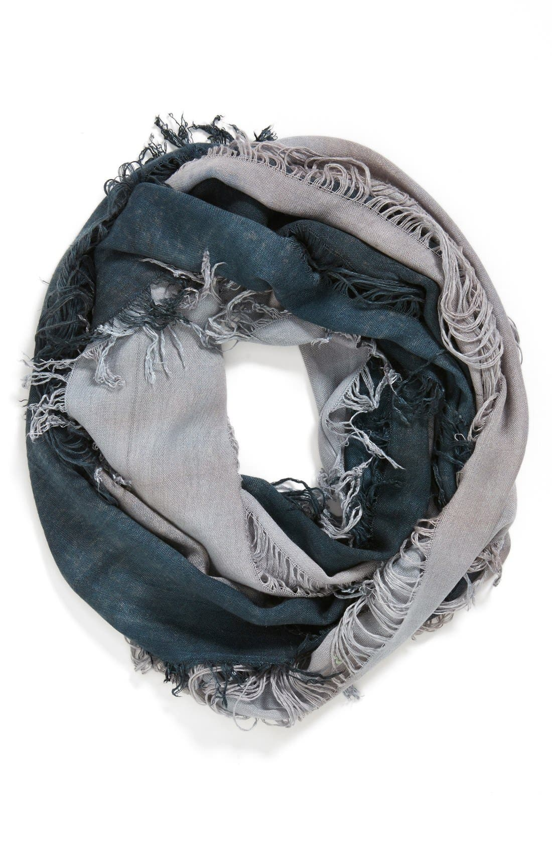 Main Image - Leith Two Tone Shredded Infinity Scarf
