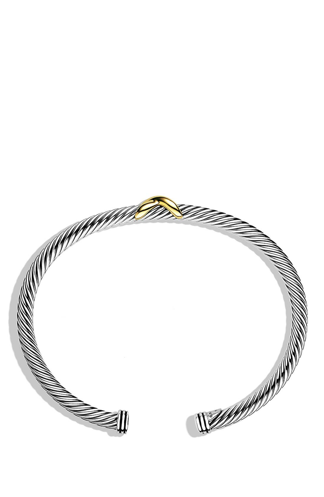 Alternate Image 2  - David Yurman 'X' Bracelet with Gold