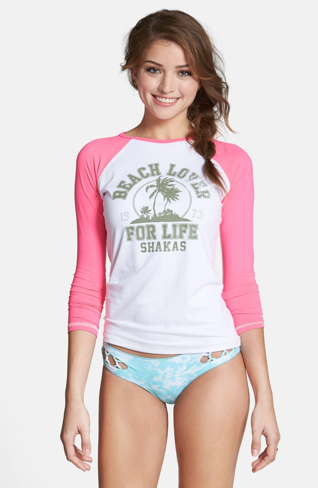 Alternate Image 1 Selected - Billabong 'Bottomless Sunshine' Swim Shirt (Juniors)