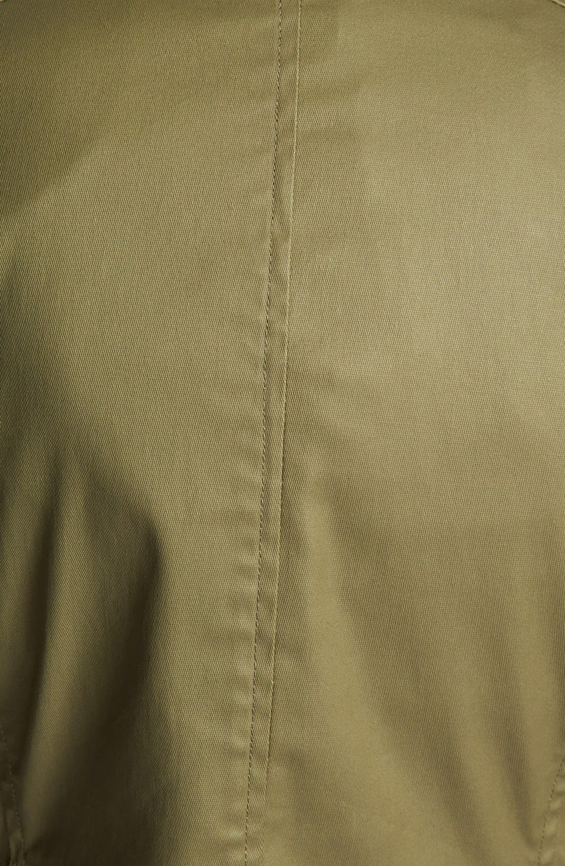 Alternate Image 3  - kensie Washed Cotton Anorak Jacket