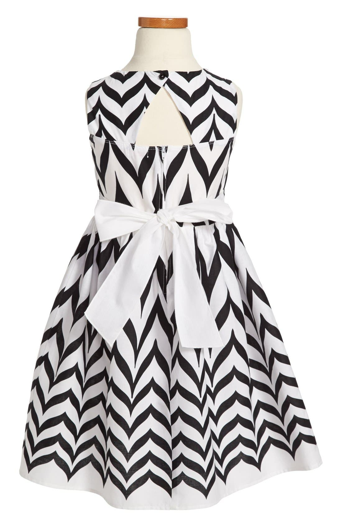 Alternate Image 2  - Roxette Chevron Print Sleeveless Dress (Big Girls)