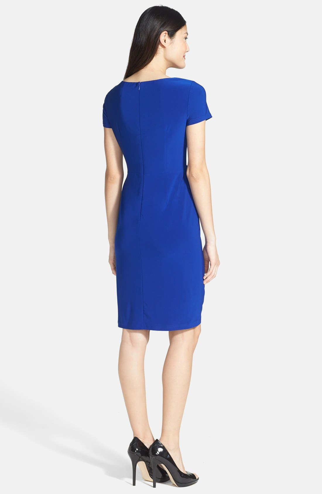 Alternate Image 2  - Adrianna Papell Ruffle Detail Sheath Dress